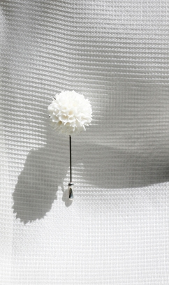 Deborah Tseng White Collection brooch