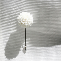 Deborah Tseng White Collection brooch